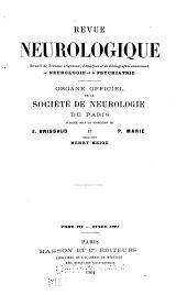 Revue neurologique: Volume12