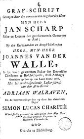 Graf-schrift gezongen ... op Johannes van der Walle