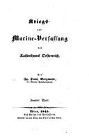 Kriegs  und Marine Verfassung des Kaiserthums Oesterreich PDF