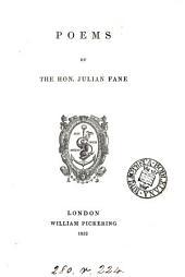 Poems by the Hon. Julian Fane