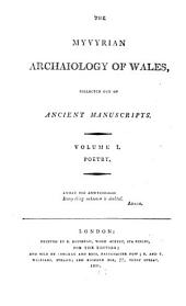 The Myvyrian archaiology of Wales: Poetry, Volume 1