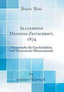 Allgemeine Missions Zeitschrift  1874 PDF