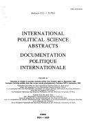 Documentation politique internationale PDF
