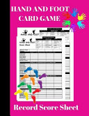 Hand and Foot Card Game Record Score Sheet