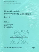 Grain Growth in Polycrystalline Materials PDF