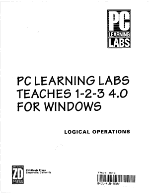 PC Learning Labs Teaches 1 2 3 4 0 for Windows PDF