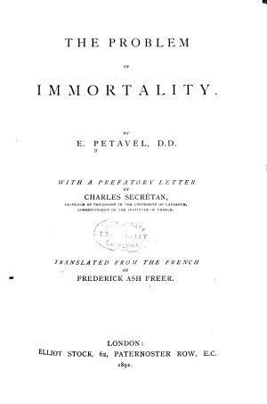 The Problem of Immortality