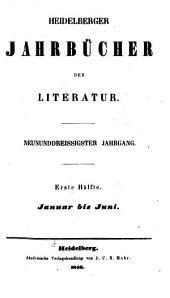 Heidelberger Jahrbücher der Literatur: Band 39