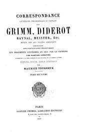 Correspondance littéraire: Volume2