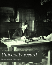 The University Record: Volumes 10-11