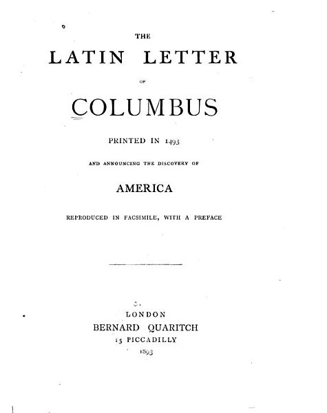 Download The Latin Letter of Columbus Book