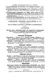 La monadologie: avec une notice sur Leibniz, des éclaircissements sur les principales théories de la monadologie, une analyse, et des notes historiques et philosophiques