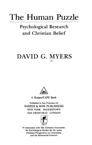 The Human Puzzle PDF