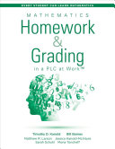 Mathematics Homework and Grading in a PLC at Work PDF