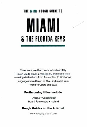 The Mini Rough Guide to Miami   the Florida Keys