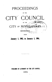 Proceedings of the City Council of the City of Minneapolis, Minnesota From...: Volume 29