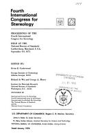 Proceedings of the International Congress for Stereology PDF