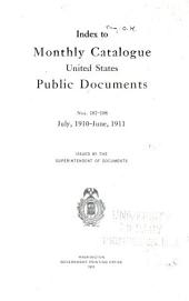 Monthly catalogue, United States public documents: Issues 187-198