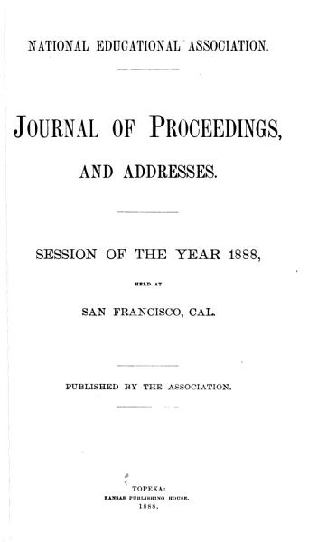 Download Journal of Proceedings  and Addresses Book