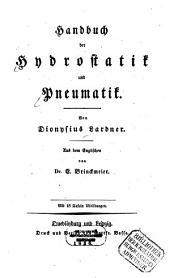 Handbuch der Hydrostatik und Pneumatik