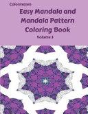Easy Mandala and Mandala Pattern Coloring Book