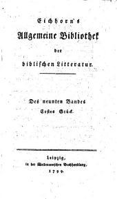 Allgemeine Bibliothek der Biblischen Literatur: Band 9
