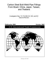 Carbon Steel Butt-weld Pipe Fittings from Brazil, China, Japan, Taiwan, and Thailand: Investigation Nos. 731-TA-308-310, 520, and 521 (second Review).
