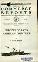 Budgets of Latin American Countries PDF