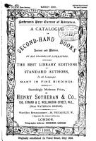 A Catalogue of Superior Second hand Books  Ancient and Modern  Comprising Works in Most Branches of Literature  Offered     by Henry Sotheran   Co PDF