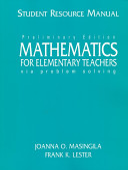 Mathematics for Elementary Teachers Via Problem Solving