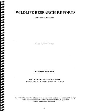 Wildlife Research Report PDF