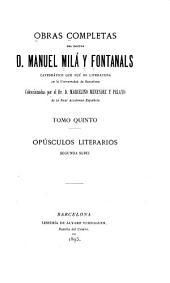Obras completas: Volumen 5