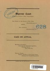 Supreme Court Appellate Division- First Department Case on Appeal