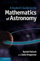 A Student s Guide to the Mathematics of Astronomy PDF