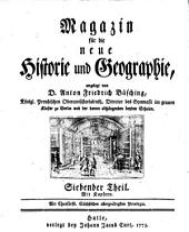 Magazin für die neue Historie und Geographie: Band 7