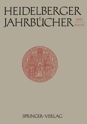 Heidelberger Jahrbücher: Band 37