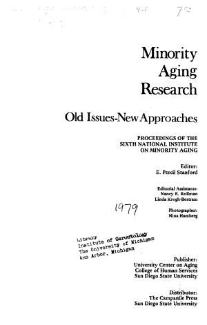 Minority Aging Research PDF