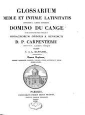 Glossarium mediae et infimae latinitatis: Volume 7