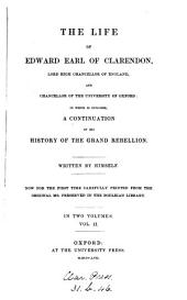 The life of Edward earl of Clarendon, written by himself. [on large paper, cm.24].