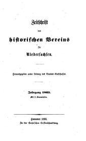 Zeitschrift des Historischen Vereins für Niedersachsen: 1865