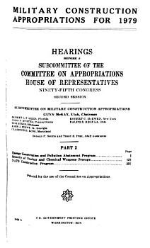 Military Construction Appropriations for 1979 PDF