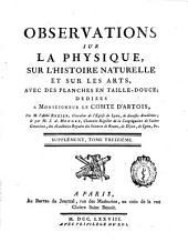 Observations sur la physique, sur l'histoire naturelle et sur les arts ...