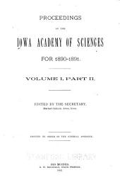 The proceedings of the Iowa Academy of Science: Volume 1, Parts 2-3