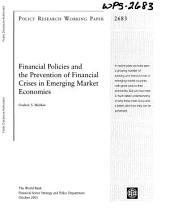 Financial Policies and the Prevention of Financial Crises in Emerging Market Economics