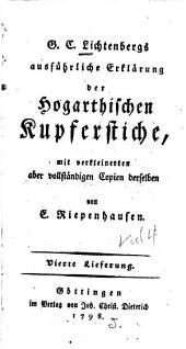 Ausführliche Erklärung der Hogarthischen Kupferstiche: Band 4