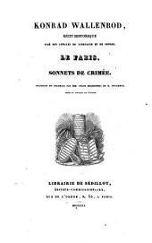 Konrad Wallenrod: récit historique ; Le Faris ; Sonnets de Crimée