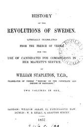 History of the revolutions of Sweden, tr. by W. Stapleton