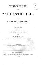 Vorlesungen über Zahlentheorie von P. G. Lejeune Dirichlet