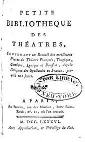 Petite bibliotheque des théatres: Œuvres de Poinsinet. Œuvres de Baurans
