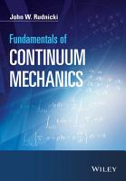 Fundamentals of Continuum Mechanics PDF